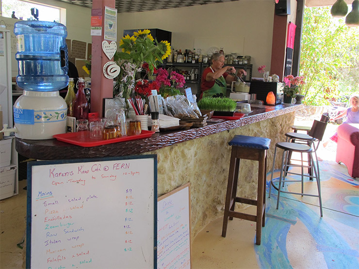 Raw Food Café at Fern Community Garden