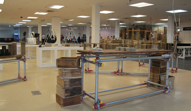And scaffold furniture too
