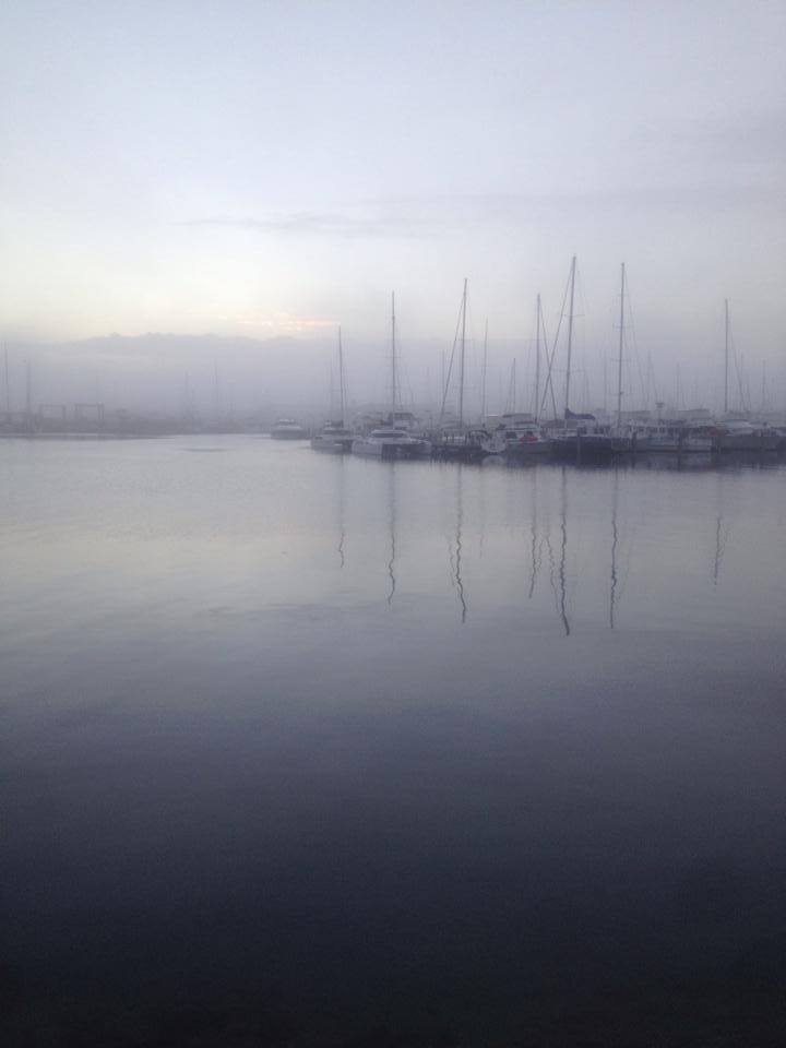 Rare misty morning in Freo