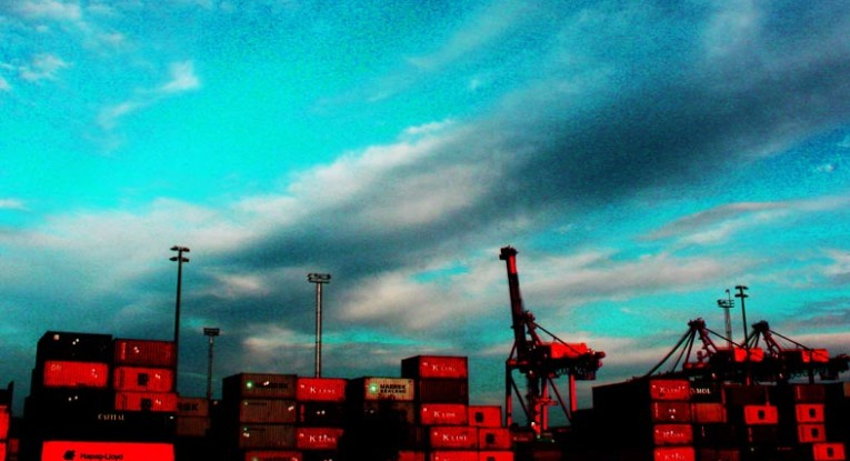 Big Sky Red Cranes Containers